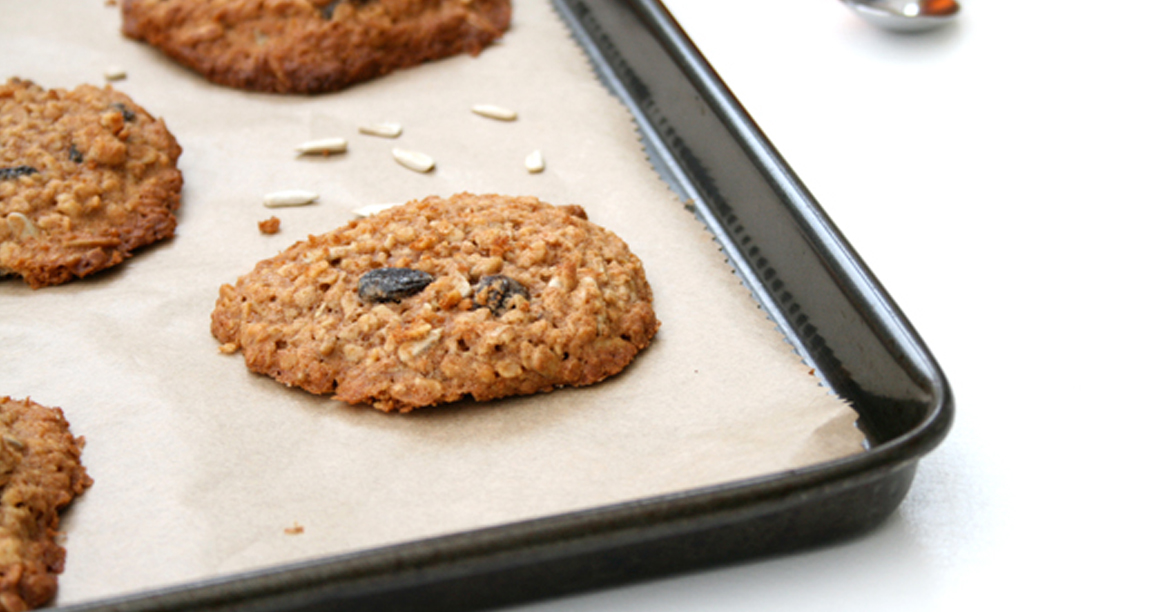 cookies - Honey Oatmeal Raisin Cookies