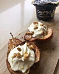 Cinnamon Roasted Pears with Vanilla Yogurt