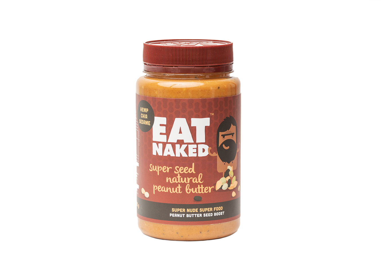 2. Super seeeded penut butter 520g jar - available sizes and nutritional information